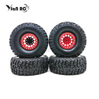 Yfan RC ROCK CRAWLER 1.9 WHEELS RIMS (4) ALLOY 1.9 Beadlock Wheel + 120mm SOFT Tires For AXIAL SCX10 TRX 4 JEEP 90046 90047