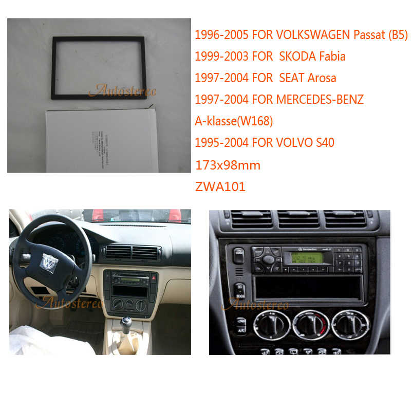 Car Radio Fascia Multimedia Frame Kit For Mercedes Benz A