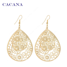 CACANA  Dangle Long Earrings For Women Big Hollow Patten Water Drop Bijouterie Hot Sale No.A205 A206