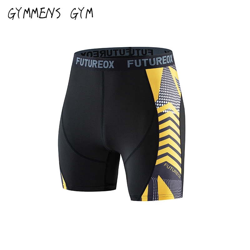 Summer New High Quality Compression Shorts Men's Fitness 3D Printed Casual Pants Men's Jogging Quick-drying Elastic Tight Shorts