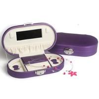 2019 new style Jewelry box portable miniature wooden European princess travel accessories storage earrings box pull bag JB 24