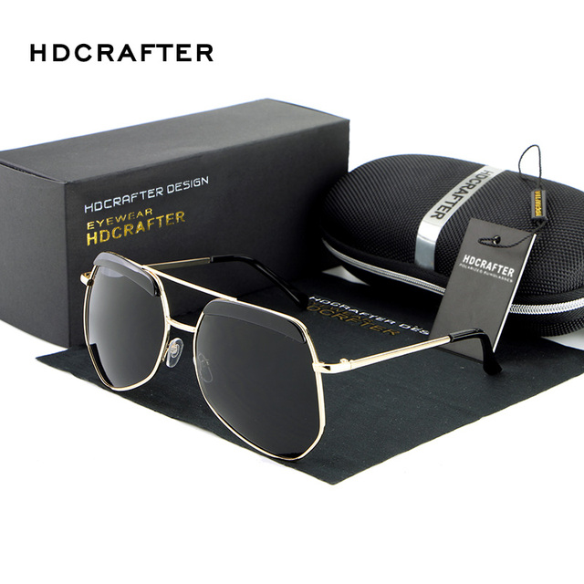 Hot Sale Oversized European Full Frame Metal Polarized Sunglasses High Quality Sexy Driving Sun Glasses for Women
