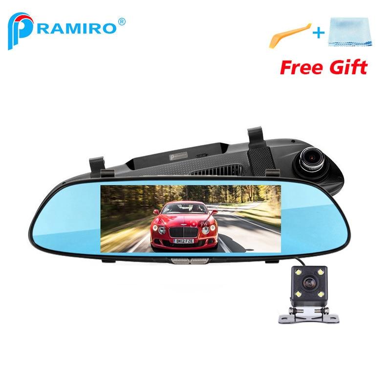 PRAMIRO 3G 7 Car DVR Rear View Mirror Registrar Camera Android 5.0 wifi GPS Full HD 1080P Video Recorder M50 Dual Lens Dash cam