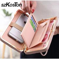 Luxury Women Wallet Phone Bag Leather Case For Xiaomi Redmi 4 Pro Samsung Galaxy S7 Edge