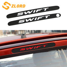 Per Suzuki Swift Ulteriori Luce Freno Sticker Styling Luce del Freno In Fibra di Carbonio Adesivo Decorativo Auto di Copertura Accessori Auto(China)