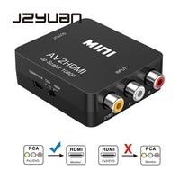 Jzyuan Мини AV к HDMI видео конвертер AV2HDMI RCA аудио-видео HDMI CVBS, чтобы HDMI адаптер для HD ТВ PS3 PS4 ПК DVD XBox проектор