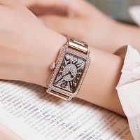 Top Marke Damen Uhr Frauen 2018 Mode Rose Gold Quarz Kleid Uhr Strass Platz Beiläufigen Frauen Uhren Uhr reloj mujer
