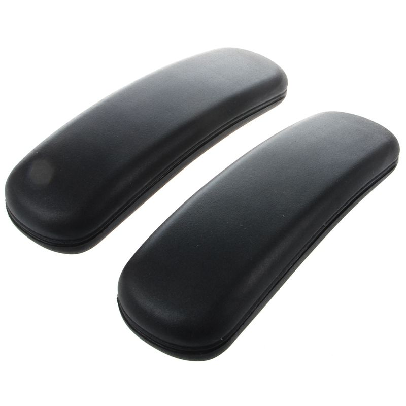 1 Pair Office Chair Parts Arm With Mounting Hole Patterns Pad Armrest Replacement Accessories Furniture 9.75