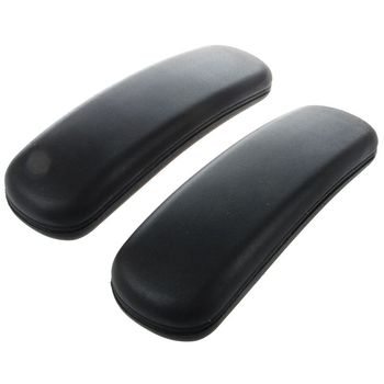 1 Pair Office Chair Parts Arm with mounting hole patterns Pad Armrest Replacement Accessories Furniture 9.75 x 3 (Black)