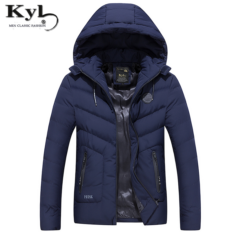 Kunyulang Mens Winter Jackets and Coats Thicken Warm jacket Men Coat Hooded Cotton-Padded Male Clothing Hommer Parkas NJ8701