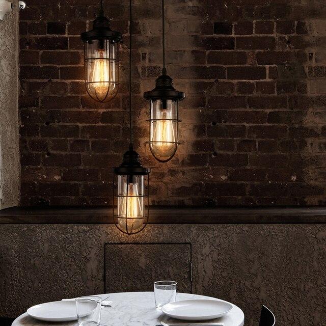 Edison Bulb Pendant Light Study Room Style Lights Led Kitchen Lamp Dining