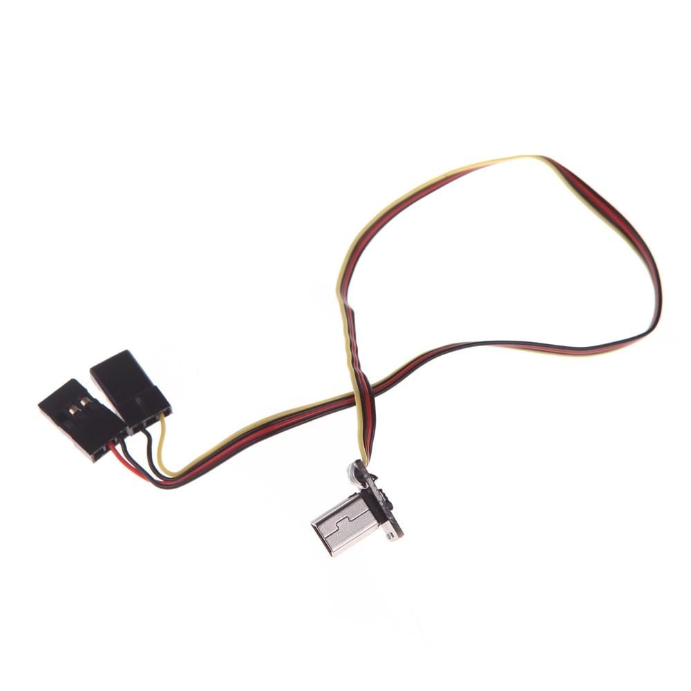 usb 90 degree to av video output 5v dc power bec input fpv