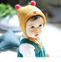 1pc New 2016 Boy Girl Newborn Kids Baby Cute Ball Crochet Hat Cap Beanie Girls Toddler