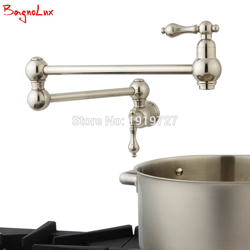 Bagnolux High Quality Wall Mounted Dual Shut Off Valve Pot Filler Faucet With 22