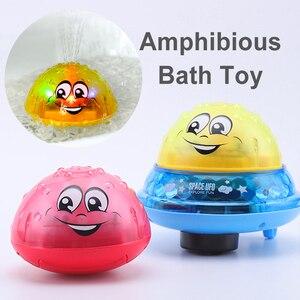 Image 1 - Juguetes de baño Agua pulverizada con luz giratoria para niños, juguetes para niños pequeños, juguetes de baño con luz LED