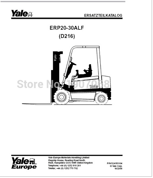 yale wiring diagrams   service manuals class 2 on