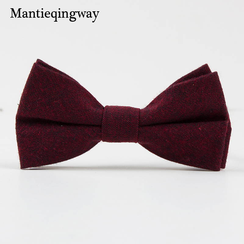 Mantieqingway Cotton Bowtie For Children Wedding Party Suits Bow Ties Slim Banquet Kids Collar Tie Boys/Girl Collar Accessories