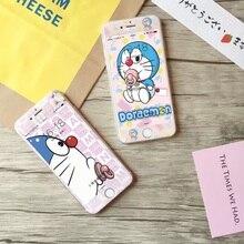 Hot Sale Rushed Tempered Film Anti knock Cute Cartoon Blue Fat cat Dora Pink 3d Screen