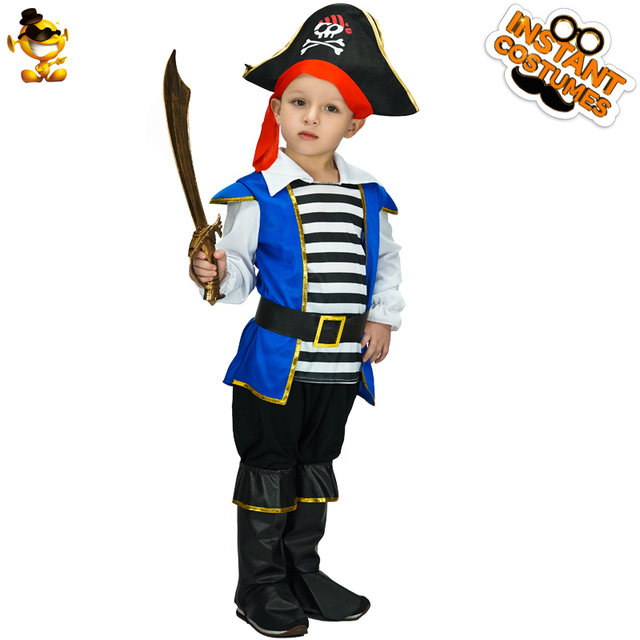 Original Costumes For Kids.Dsplay Original Pirate Captain Child Costume Kids Carnival Halloween Party Role Play For New Year Costumes