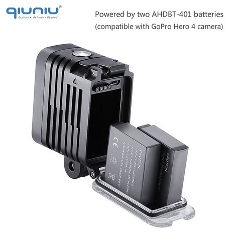 QIUNIU 50M Underwater Diving LED Light Waterproof Fill Light for GoPro Hero 8 7 6 5 4 for DJI Osmo Action for Canon DSLR Cameras Karachi
