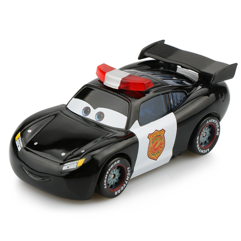Disney Pixar Cars 2 Lightning McQueen Police Version 1:55