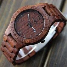 YFWOOD 2016 Madera de la Marca de Lujo Del Reloj Análogo de los hombres Del Cuarzo de Japón Movimiento Automático Fecha Impermeable Masculino Relojes de Pulsera relogio masculino