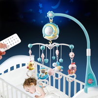 0 18 Months Mobiles Rotating Baby Rattle Hanging Projection Stroller Play Comfort Toy Remote Control Crib Bed Bell Cartoon