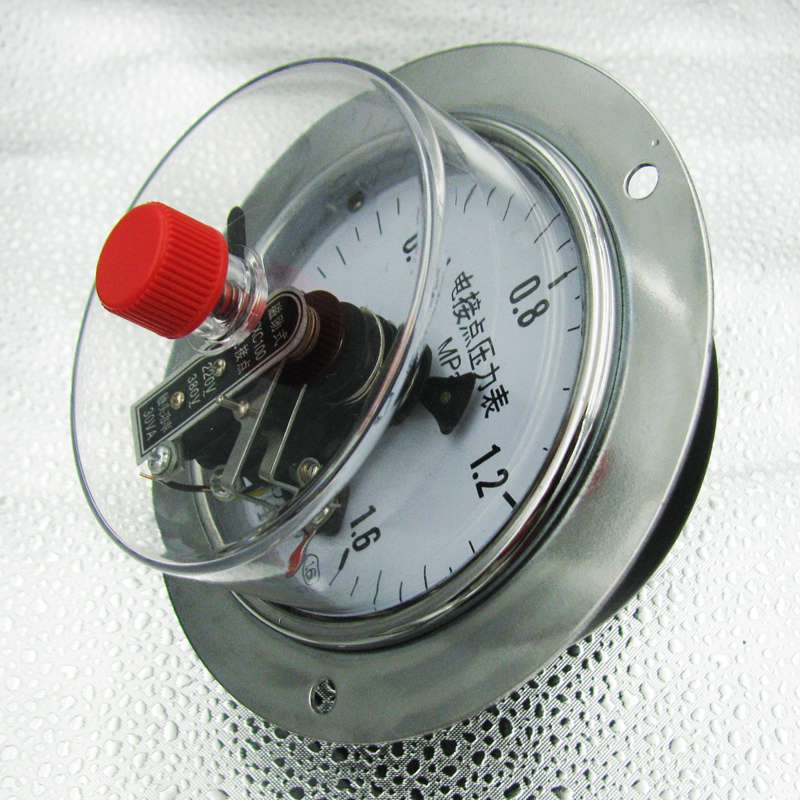 Various specifications 30VA Radial Magnetic help Electrical contact Pressure gauge -0.1-100Mpa  ynxc 60 2 5 shock proof magnetic help 60mm oil liquid filled electric contact pressure gauge manometer lower mount bottom
