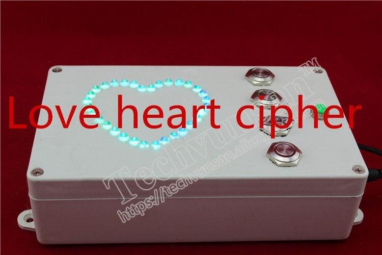 Accessoires de salle d'évasion secrets humains en forme de coeur débloquer amour cœur chiffrement amour débloquer amant cadeau saint valentin cadeau fête
