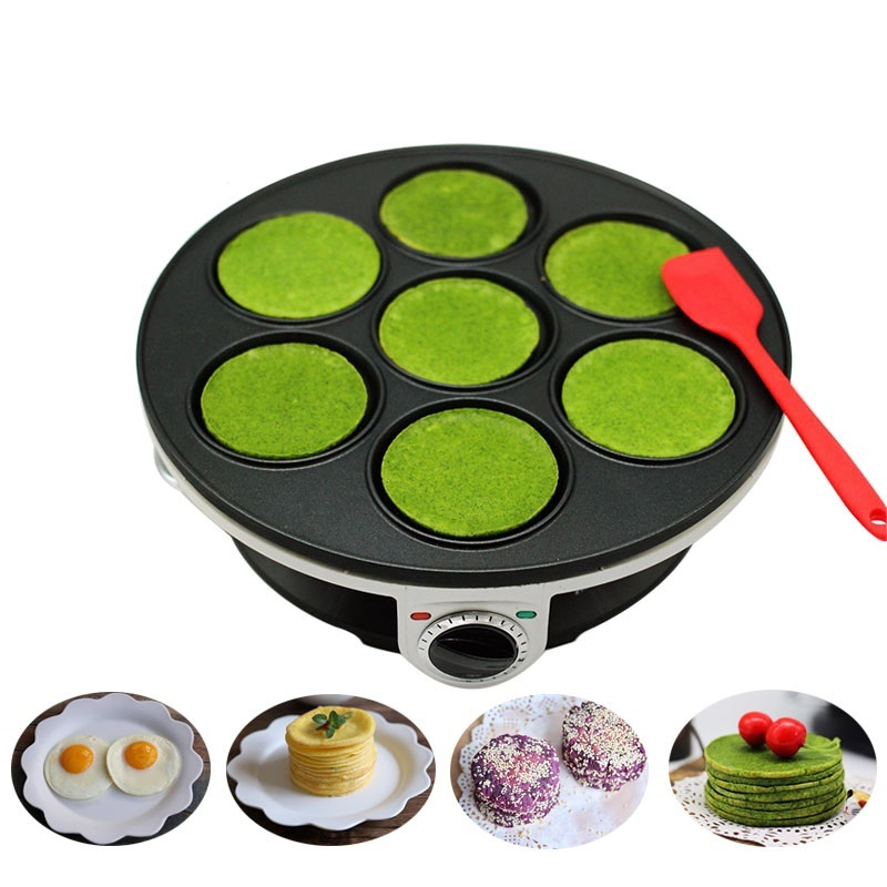 220V 7 Holes Multifunctional Electric Crepe Maker Machine Pancake Waffle Machine Steak Frying Plate EU/AU/UK Plug Household 220V 7 Holes Multifunctional Electric Crepe Maker Machine Pancake Waffle Machine Steak Frying Plate EU/AU/UK Plug Household