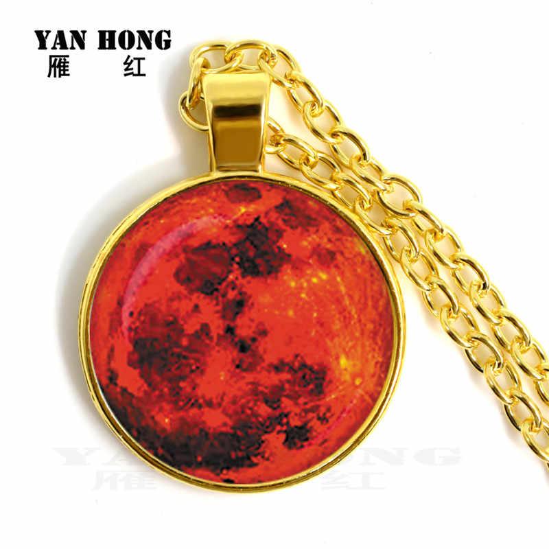 14 ชิ้น/เซ็ตแก้วคริสตัลสร้อยคอสีดำ hole light moon planet 25 มม.รอบสร้อยคอจี้ Friends'Birthday Gif
