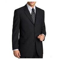 Classic Bespoke Black Men Suits For Men Suit, Tailored Suits with 3 Button, Notch Lapel, Flap pocket