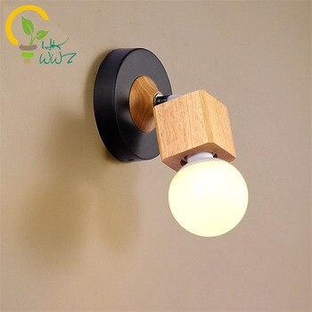 الحديث بسيط الأصالة الخشب أدى الجدار مصباح الممر ممر غرفة نوم شرفة الشمعدان الجدار أضواء الإنارة wandlamp