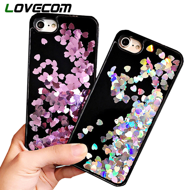 Cellphones & Telecommunications Phone Bags & Cases Hot Sale Glitter Stars Quicksand Liquid Phone Case For Iphone 5 5s Se 6 6s Plus 7 8 Plus X Xs Max Xr Love Heart Tpu Back Cover Cheap Sales