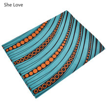 She Love 1Yard Ankara African Fabric Real Wax Printed Africain Wax Nigeria Batik Fabric For Party Dress Making Materials(China)