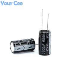10 шт. электролитический Конденсаторы 25 В 6800 мкФ 18×30 мм Алюминий электролитический конденсатор