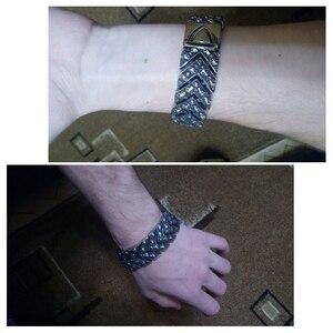 Image 5 - Тяжёлые мужские браслеты шириной 25 мм, 2020, мужской браслет в стиле панк качалка, мужские ювелирные изделия, браслет из нержавеющей стали