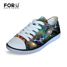 FORUDESIGNS Planets Galaxy Printing 2017 Canvas Shoes Children Shoes Sport for Girls Boys Kids Child Sports Sneakers Custom Shoe