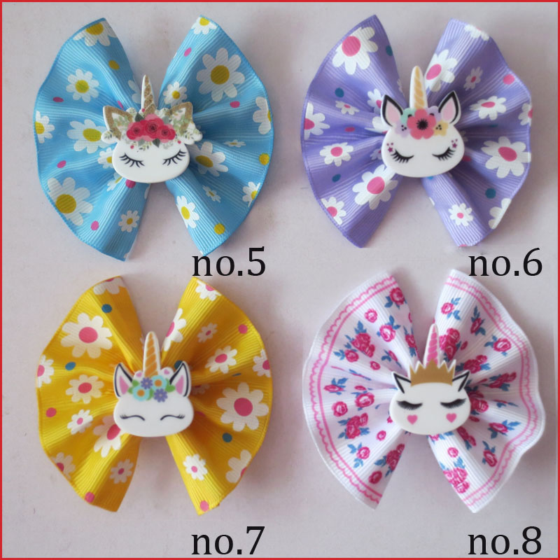 "50 BLESSING Happy Girl 5.5/"" A Princess Hair Bow Clip Cinderella Frozen Hairbow"