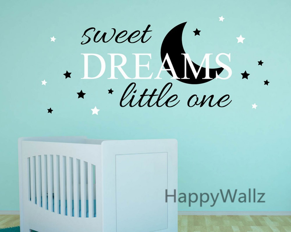 sweet dreams little one baby nursery quotes wall sticker diy