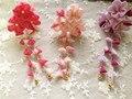 Japanese traditional Style tessel gradient kimono cloth flower hairpin yukata Classic hair decoration headwear hair accessories