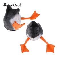 MagiDeal 2 Pieces Black Duck Butt Hunting Decoys Butt Up Drake Decoy Greenhand Gear
