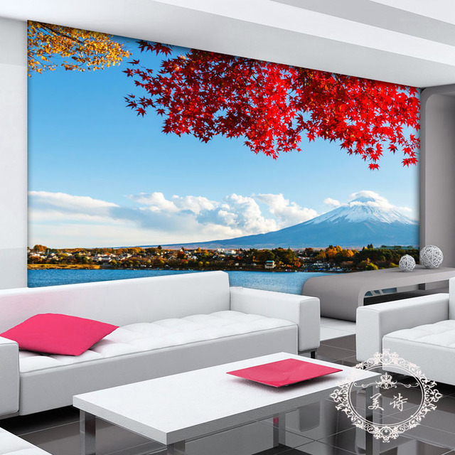 New Japan Der Fuji Panorama 3d Fototapete Landschaftsmalereien