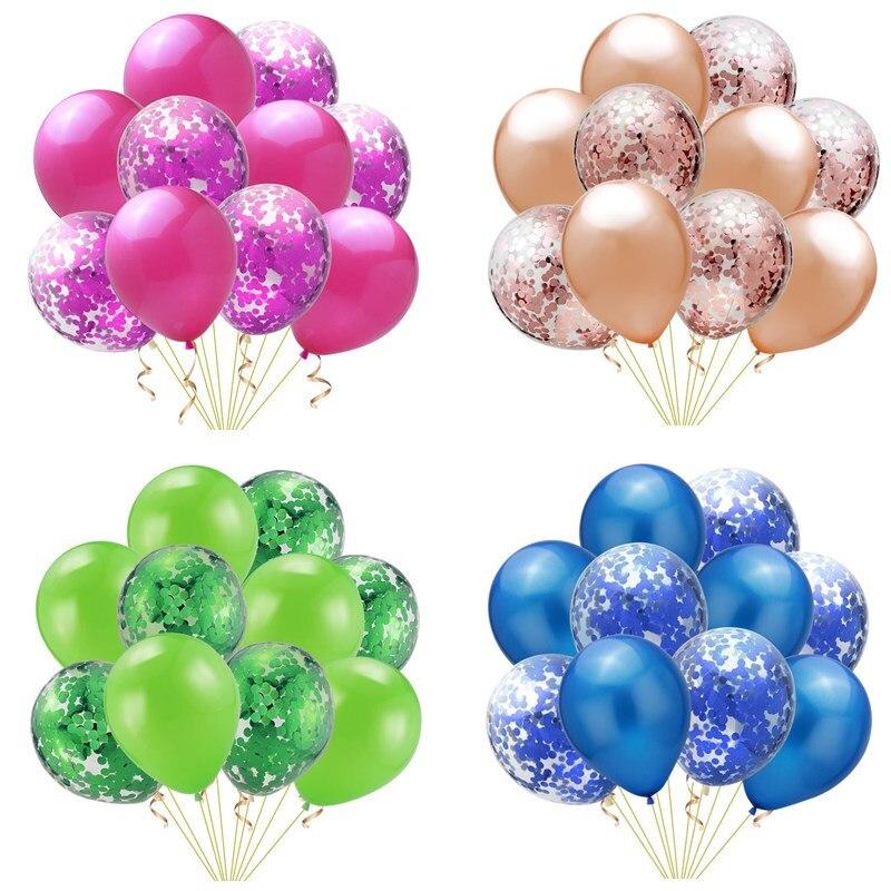 20 Pcs/lot 12 Pouces Confettis Latex Ballons Gonflable Balle Jouet Enfants Bébé Fête D'anniversaire Mariage Décoration Ballons Dessin Animé Chapeau T