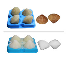 Maidobessa 4 Cell Ice Cube Trays Diamond Shape Mold Ice Cube Tray 4 Cavities Crystal Silicone Ice Mold Candy