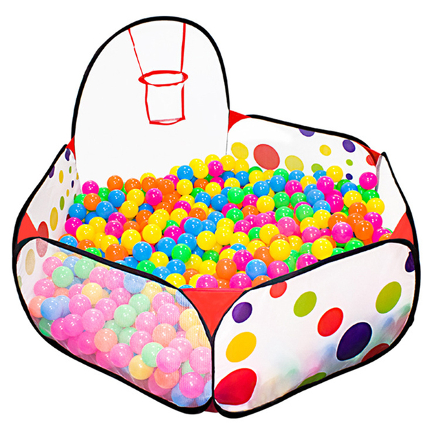 0 9M Portable Play Tent Outdoor Indoor Game Ball Pool With Basket Foldable Sports Playhouse Gifts Toys For Children Kids Baby