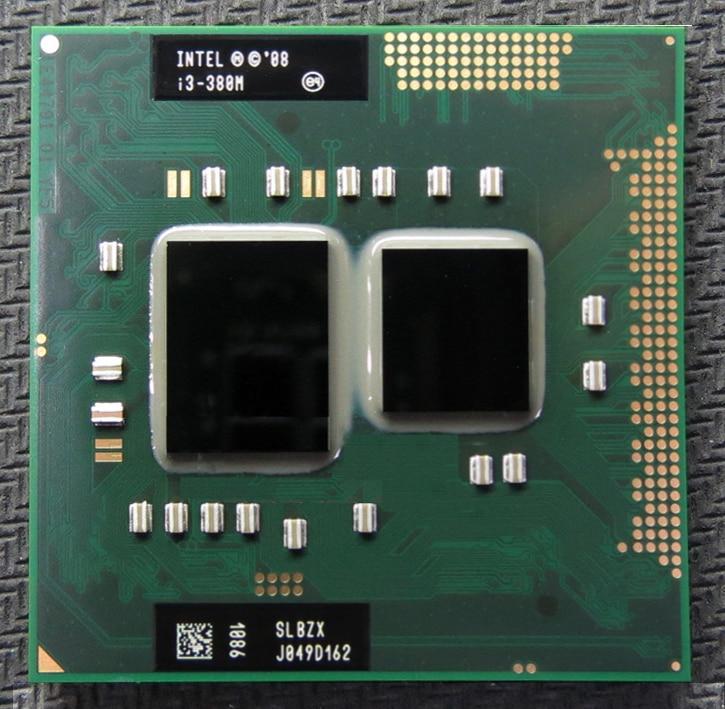 Livraison gratuite INTEL I3 380m Dual Core 2.53GHz L3 3M PGA 988 processeur d'unité centrale fonctionne sur HM55