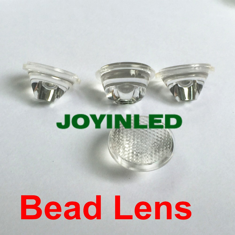 Free shipping 50pcs 45(5 10 15 30 <font><b>60</b></font> <font><b>90</b></font> <font><b>120</b></font>) degree led lens with bead surface, 20mm pmma optical lens for high power led diode image