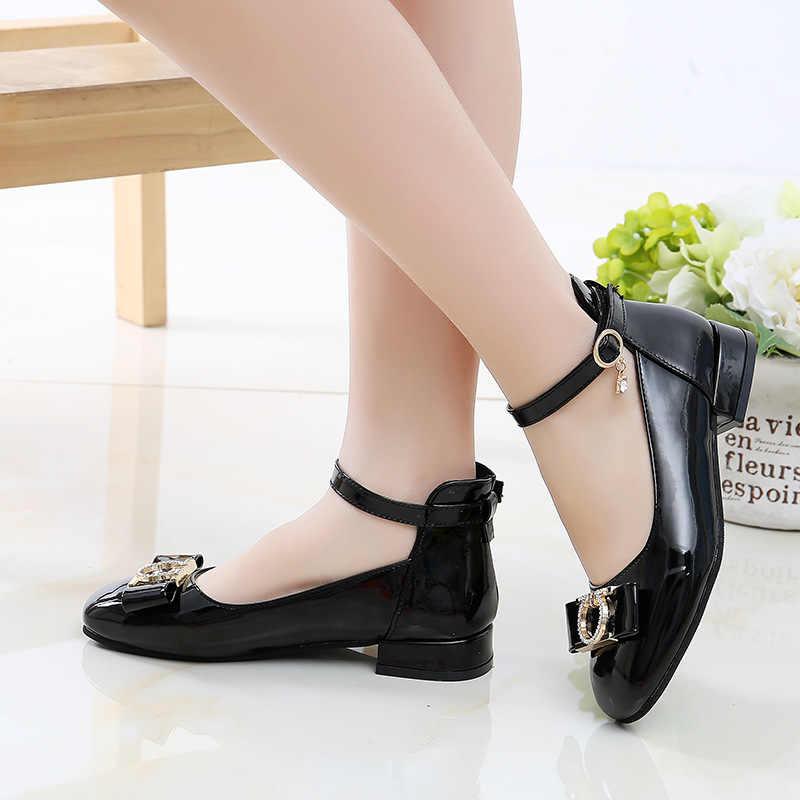 Trẻ em Giày Công Chúa Giày Cao Gót Đỏ Đô Đảng Giày Học Bé Mocassin Chân Trần Đậu Hà Lan Giày Giày Sandal Cho Bé Gái Cưới