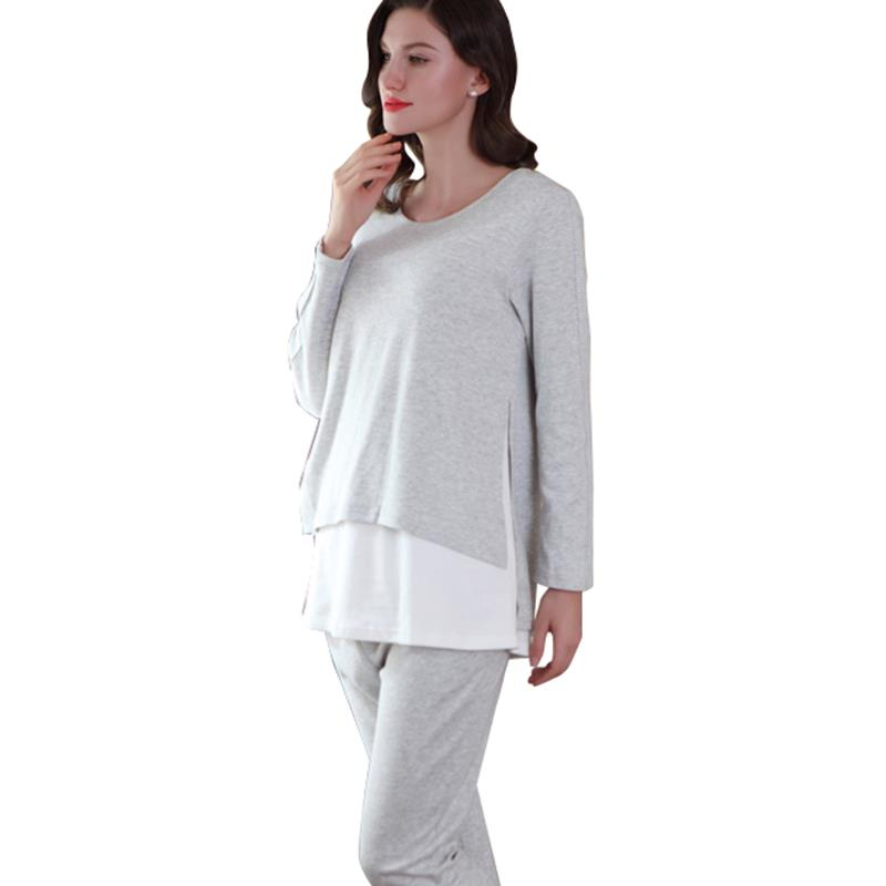 KEOL-Sally Nice Womens Maternity Nursing Cotton Pajamas Breastfeeding Sleepwear Set